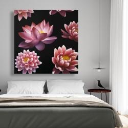 Canvas 48 x 48 - Lotus flower pattern