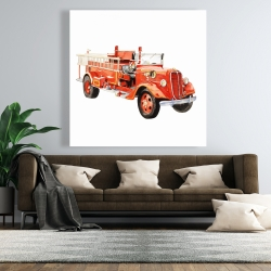 Canvas 48 x 48 - Vintage fire truck
