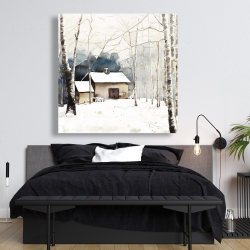 Canvas 48 x 48 - Small winter barn
