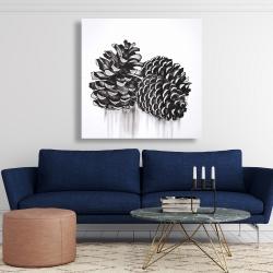 Canvas 48 x 48 - Three small pine cones