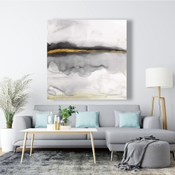 Canvas 48 x 48 - Gold stripe abstract