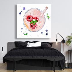 Canvas 48 x 48 - Strawberry & raspberry smoothie
