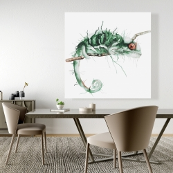 Canvas 48 x 48 - Chameleon on the lookout