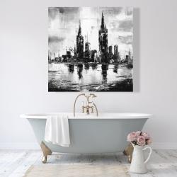 Canvas 48 x 48 - Mono urban cityscape