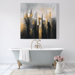 Canvas 48 x 48 - Abstract gold skyscraper