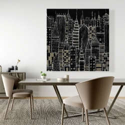 Canvas 48 x 48 - Illustrative dark city