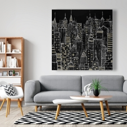 Canvas 48 x 48 - Illustrative city towers
