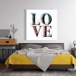 Canvas 48 x 48 - Colorful love