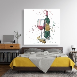 Canvas 48 x 48 - Bottle of red wine