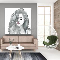 Canvas 48 x 48 - Beautiful female hair