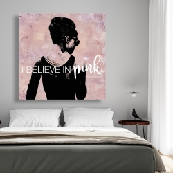 Canvas 48 x 48 - I believe in pink