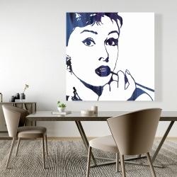 Canvas 48 x 48 - Audrey hepburn: cigarillo
