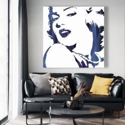 Canvas 48 x 48 - Marilyn monroe in blue