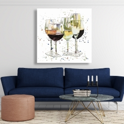 Canvas 48 x 48 - Beautiful wine glasses