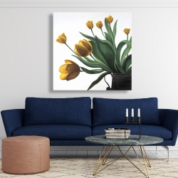 Canvas 48 x 48 - Yellow tulips