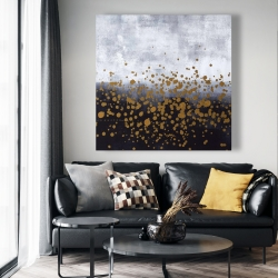 Canvas 48 x 48 - Gold paint splash on gray background