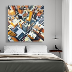 Canvas 48 x 48 - High top view of buildings in new york