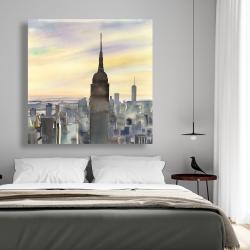 Canvas 48 x 48 - Sunset over new york city