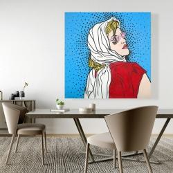 Canvas 48 x 48 - Pop art woman