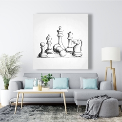 Canvas 48 x 48 - Chess game pieces