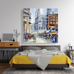 Canvas 48 x 48 - Busy street by a sunny day 1