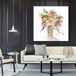 Canvas 48 x 48 - Romantic bouquet
