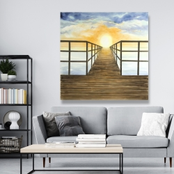 Canvas 48 x 48 - Sunset in the sea