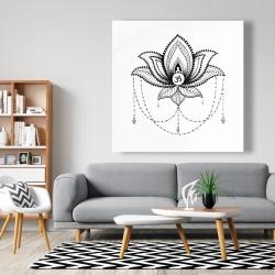 Canvas 48 x 48 - Ethnic lotus ornament