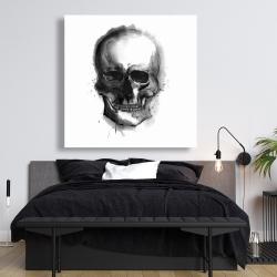 Canvas 48 x 48 - Watercolor dark skull