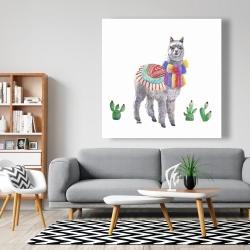 Canvas 48 x 48 - Traditional peruvian lama