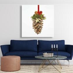 Canvas 48 x 48 - Christmas pine cone