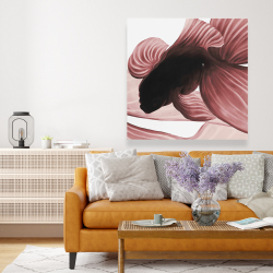 Canvas 48 x 48 - Two red betta