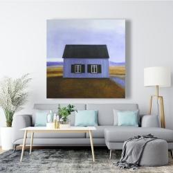 Canvas 48 x 48 - Blue barn