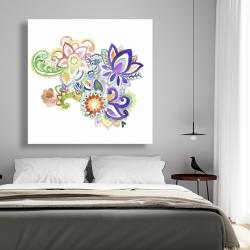 Canvas 48 x 48 - Paisley watercolor
