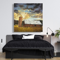 Canvas 48 x 48 - Hay barn