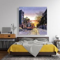 Canvas 48 x 48 - Sunset streetscape to toronto