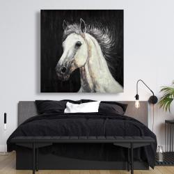 Canvas 48 x 48 - White star horse
