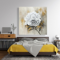 Canvas 48 x 48 - White peony