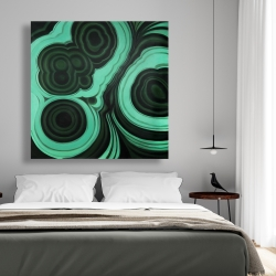 Canvas 48 x 48 - Malachite stone