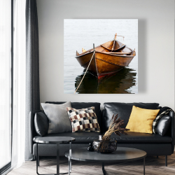 Canvas 48 x 48 - Rowboat on calm water