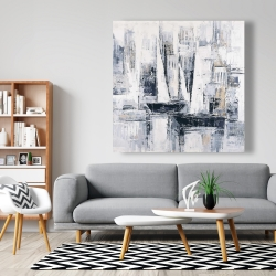 Canvas 48 x 48 - Industrial style sailboats