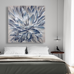 Canvas 48 x 48 - Blue and gray flower