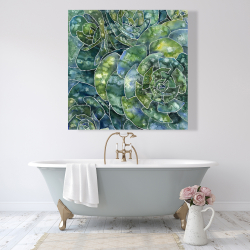 Canvas 48 x 48 - Abstract succulents