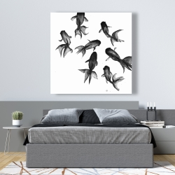 Canvas 48 x 48 - Small black fishes