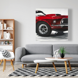 Canvas 48 x 48 - Classic red car