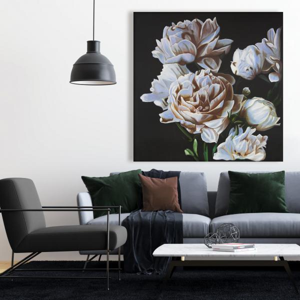 Canvas 48 x 48 - Peonies