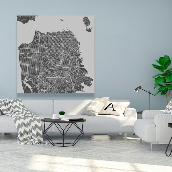 Canvas 48 x 48 - San francisco city plan