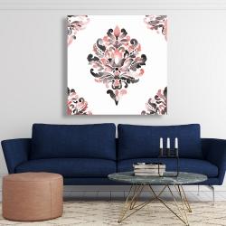 Canvas 48 x 48 - Coral baroque ornament