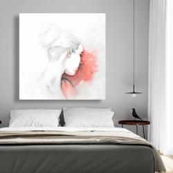 Canvas 48 x 48 - Pastel woman