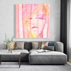 Canvas 48 x 48 - Abstract portrait feminine